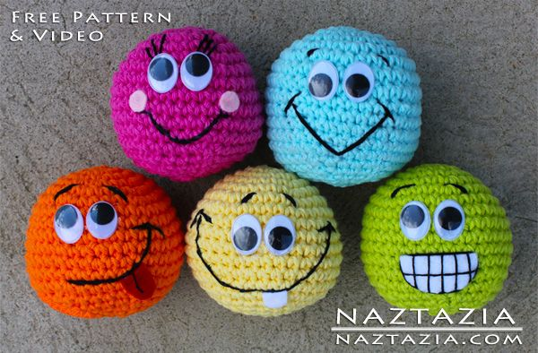 I love these amigurumi crochet balls. You could juggle them, use them for games…