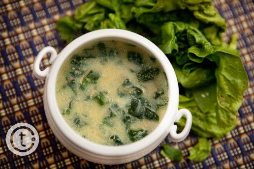 ... soup with orzo, spinach, egg and parmesan. Pairs great with a crusty