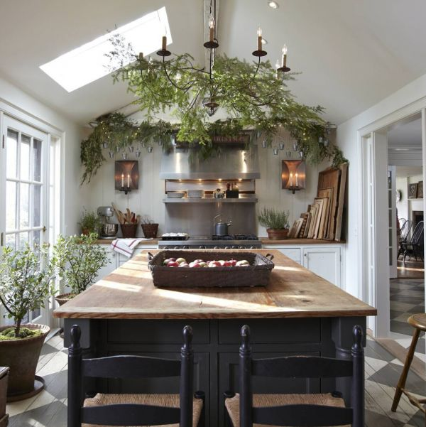 Nora Murphy Country House | Farmhouse House | Painted Checkboard Wood Floor