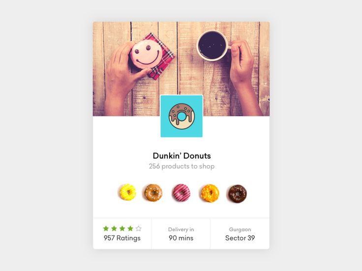 Store UI card