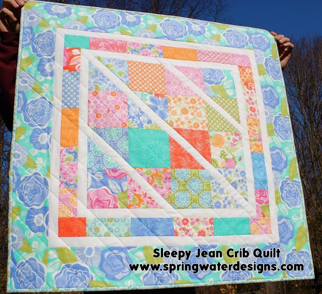Pretty darn easy quilt to make, plus it makes it easy for actually quilting it.