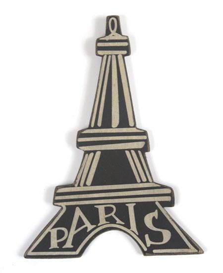 Eiffel Tower Paris Decoration Wooden with Hook