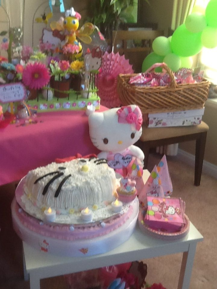 Hello Kitty Stuffed toy with Hello Kitty cake Hello Kitty