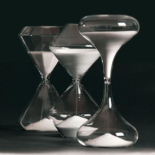 Sablier en verre 30 min - Slowly -chez Seletti