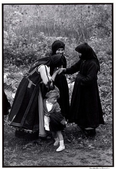 "GREECE. Thessaly. 1964. Greeting an elder. ""A Greek Portfolio"" p.48 © Costa Manos/Magnum Photos"
