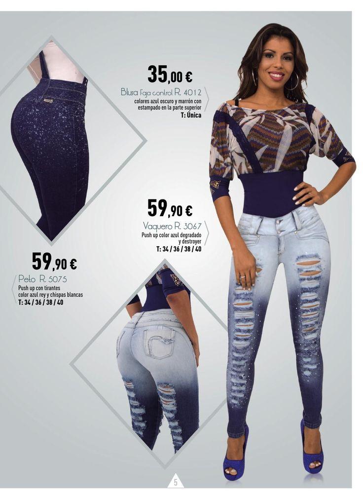 Venta directa por catalogo de Vaqueros colombianos Push up (Levanta Cola), blusas bodies. Quiere distribuir estas prendas llama al  +34 917 306 934 o entra a www.gjeans.es