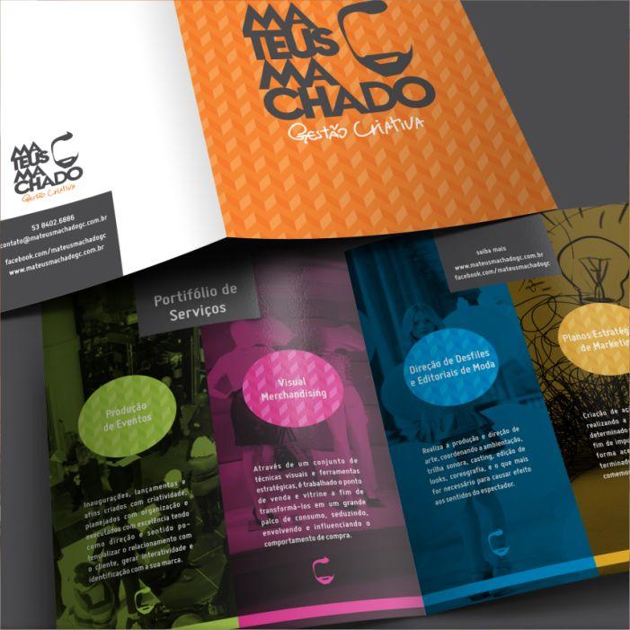 Mateus Machado - Identidade Visual, Marca, Logo, Portfólio, Folder, Flyer, Filipeta