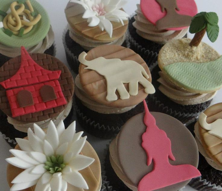 Thailand Themed Cupcakes By Art Cup Www