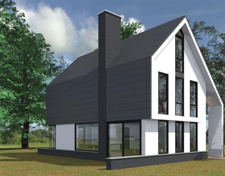 Een nieuw schetsontwerp van een Hedendaagse woning. De woning is modern vormgegeven met heldere kleuren. Bongers Architecten helpt u met uw droomwoning.