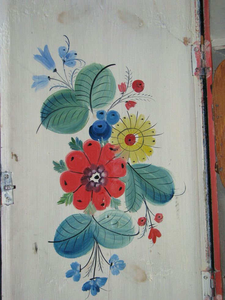 Os rosemaling folk painting Scandinavian