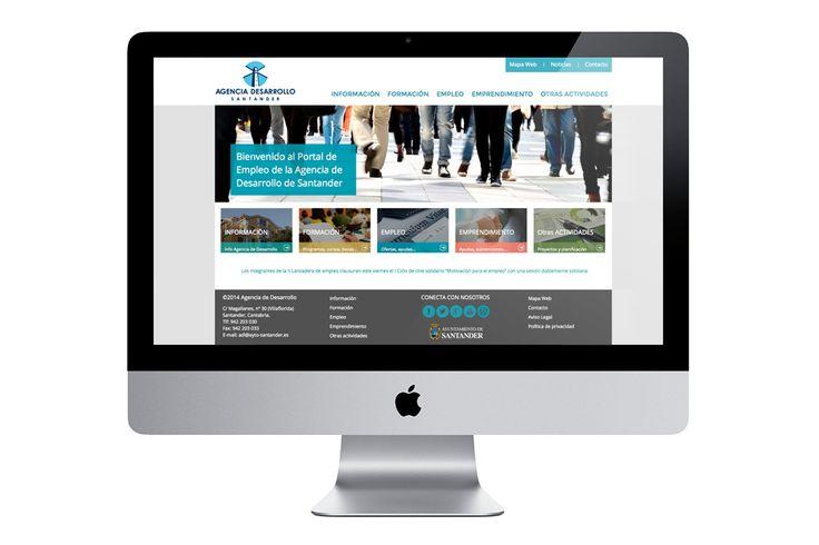 Diseño web del Portal de Empleo y Formación de la Agencia de Desarrollo del Ayuntamiento de Santander, un proyecto desarrollado por Boxer Publicidad junto con el desarrollo en programación de Parsec, para la promoción económica, empleo y formación de la Concejalía de Empleo.