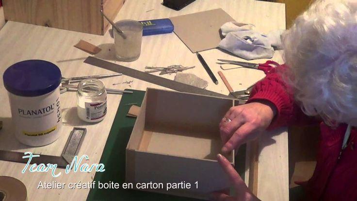Cartonnage tuto boite en carton par l'atelier Nara p1