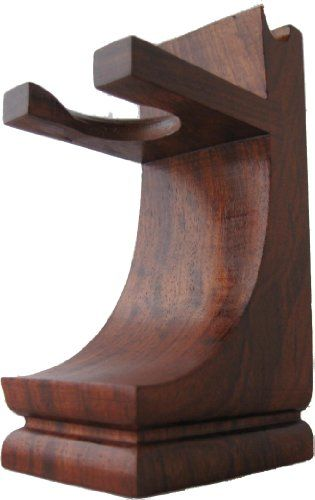 Mission Style Wood Shave Stand for Razor and Brush – Walnut Finish at http://suliaszone.com/mission-style-wood-shave-stand-for-razor-and-brush-walnut-finish/