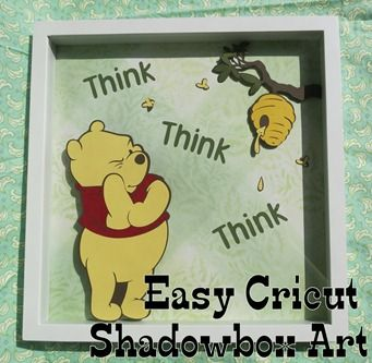 Easy Craft Cutter Shadow Box Wall Art, would be great for seasonal stuff since the only 'real' expense is the frame