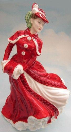 ROYAL DOULTON PORCELAIN FIGURINE LADIES LADY HN4552 CHRISTMAS DAY 2003