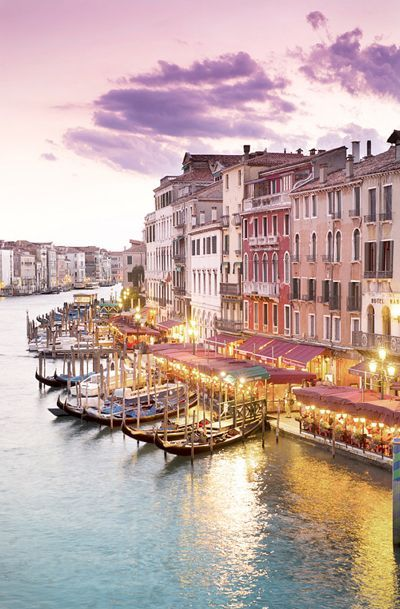 Venice Photography - Evening at the Rialto Bridge, Wall Decor, Italy Travel Photograph