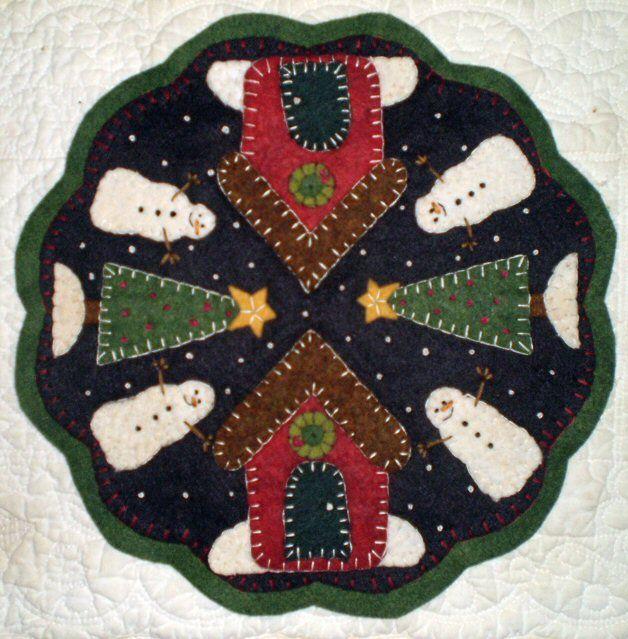 Free Printable Penny Rug Patterns | Winter Village - Wool Penny Rug