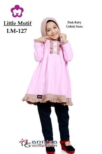 Blus Anak Little Mutif 127 Pink Baby
