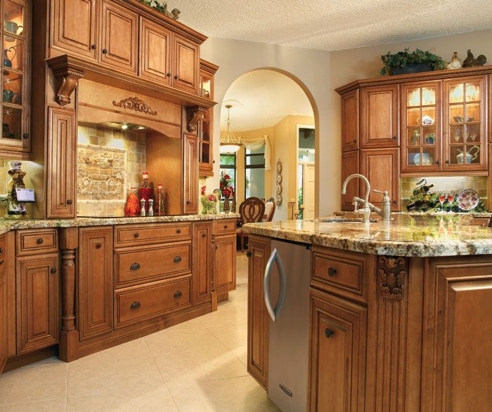 Selena Maple Cabinets With Coffee Finish From Diamond