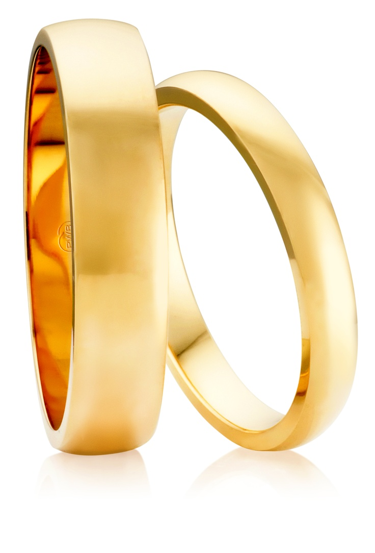 Australian Made Wedding Rings - The beautiful High Half Round Profile. Slightly thicker with a lovely soft curve accross the top.