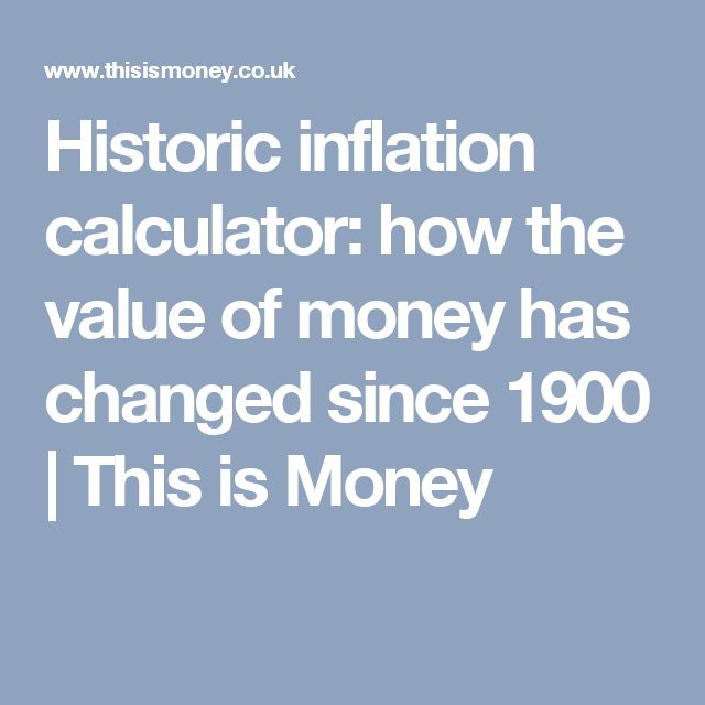 Historic inflation calculator: how the value of money has changed since 1900 | This is Money