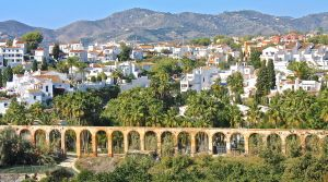 looking back on Nerja from the road to Maro