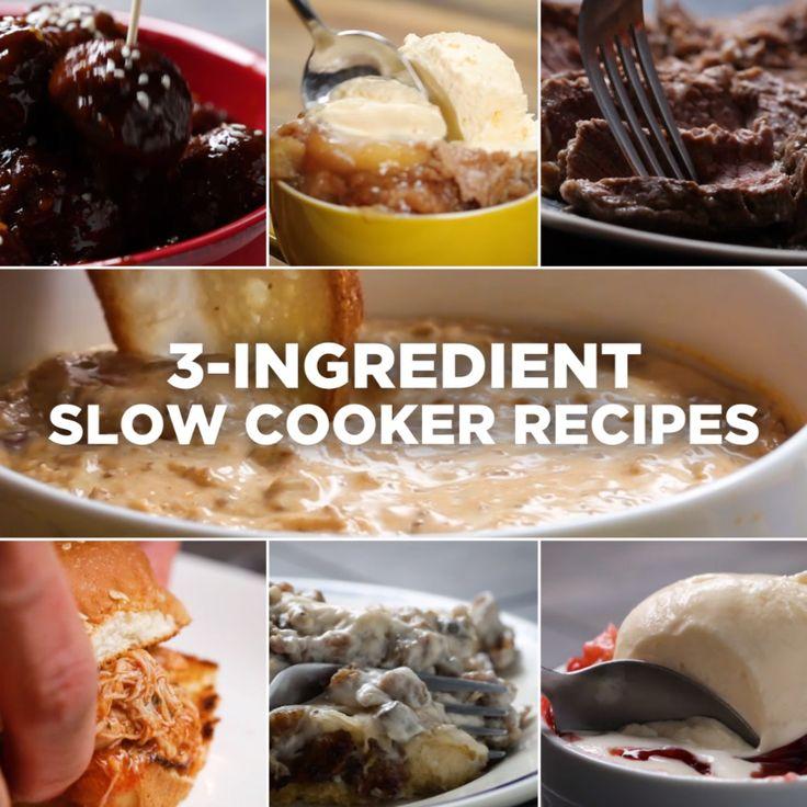 3-Ingredient Slow Cooker Recipes // #slowcooker #dessert #snack #chocolate #3ingredient #food #Tasty