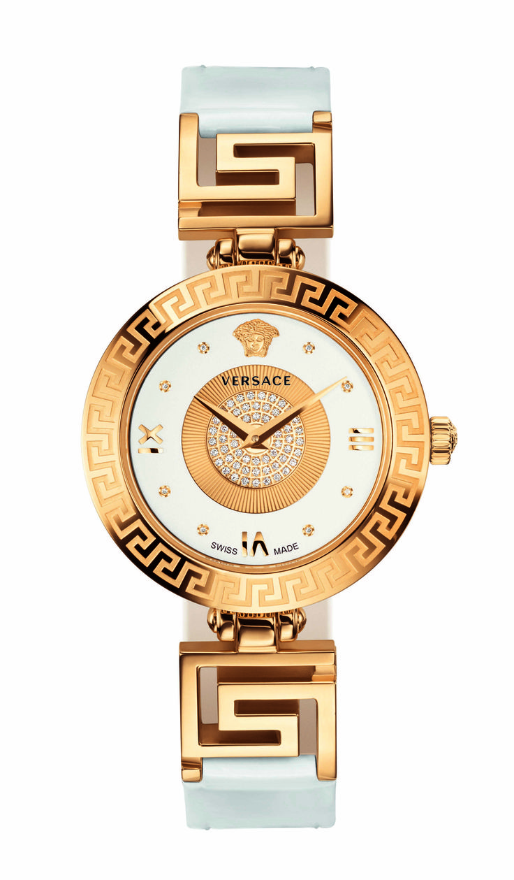 Versace unveils the V-Signature with diamond pavé, a new line of watches, inspired by the latest fashion accessories, reflecting the iconic style and glamorous aesthetics of the Maison. #VersaceWatches #Versace