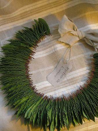 DIY Bay Leaf Christmas Wreath
