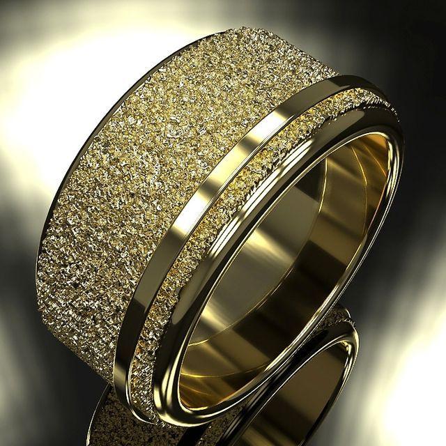 Great Custom Made Wedding Band Ring Textured