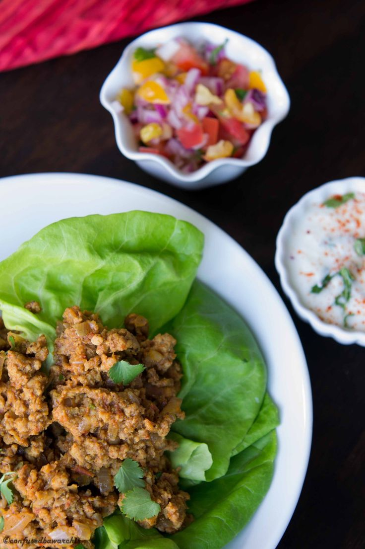 Curry Chicken Lettuce Wrap | INDIAN NON-VEG | Pinterest