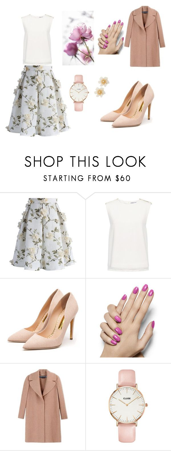 """Романтический стиль"" by venera-zakirova on Polyvore featuring мода, Chicwish, Finders Keepers, Rupert Sanderson, Rochas, CLUSE и Lydell NYC"