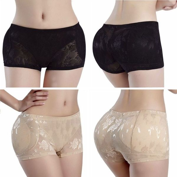 Women Padded Buttock Shapewear Underwear Briefs Knickers Bum Lift Enhancer Pants
