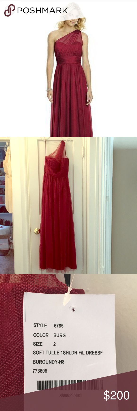 AFTER SIX gown from BELLA BRIDESMAIDS size 2 Dressy (After Six) - 6765 in tulle in burgundy New with tags No alterations After Six Dresses Wedding