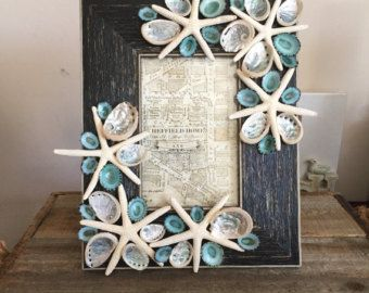 Stella Marina Beach Decor Seashell Foto Frame di ShellsUnlimited