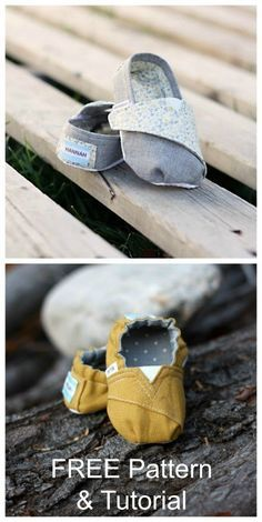 Baby and toddler shoes sewing pattern. Fabric shoe…
