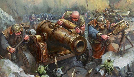 Warhammer fantasy: Dwarf Cannon and crew