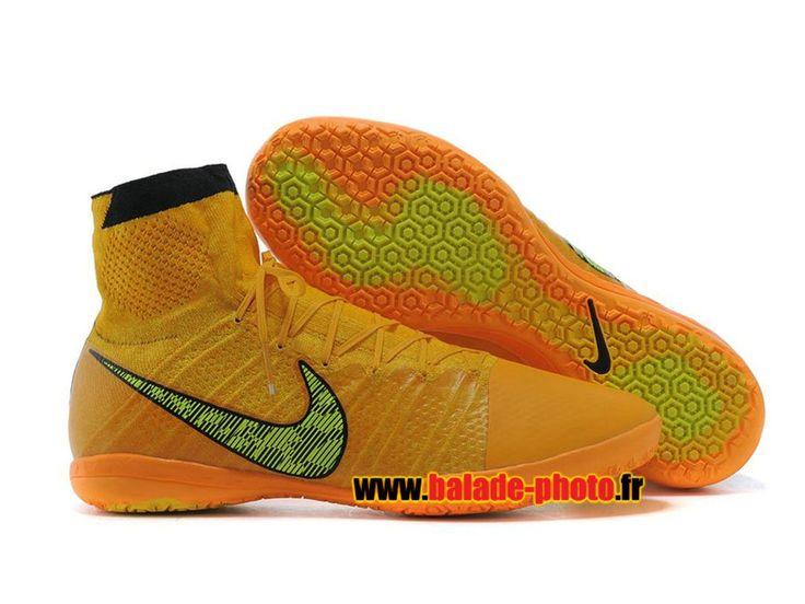2015 Nike Elastico Superfly Indoor Chaussures de Football Hommes Orange vert 6095