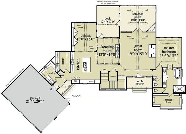 House plans with angled attached garage google search for Attached garage plans with breezeway