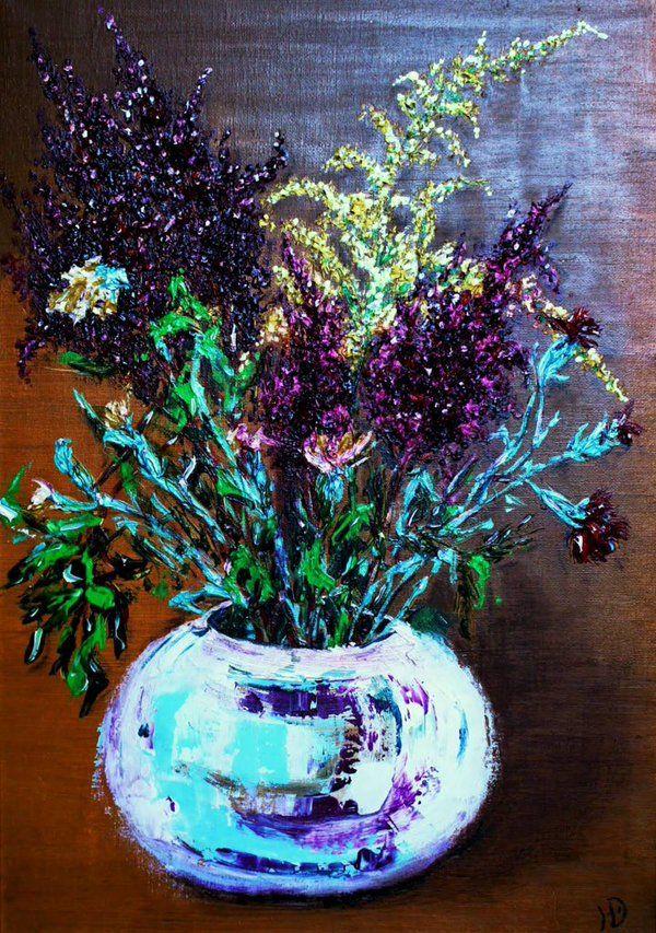 "Erokhin Valery on Twitter: """"Ikebana on Russian"", 50x35, oil an canvas, 2014, artist of the Yulia Erokhina https://t.co/OPKm4gj7Sm"""