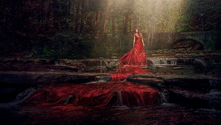 Robert Cornelius (USA) - El río corría escarlata, 2014. Fotomanipulación.