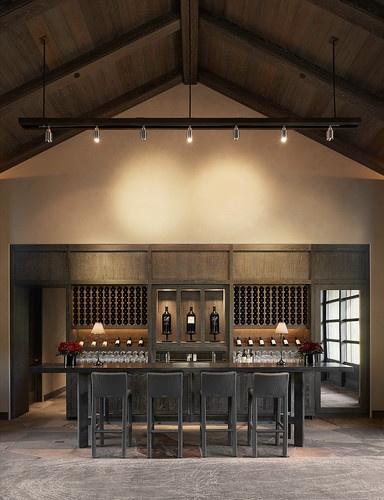 Barn styled wine cellar