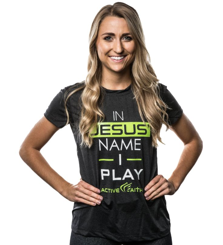 Women's In Jesus' Name I Play Performance Shirt: