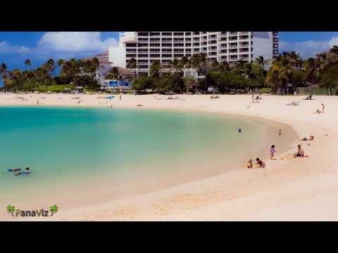 Time-lapse Photography.  A day at the beach at Ko Olina Resort in Hawaii viewed in minutes.