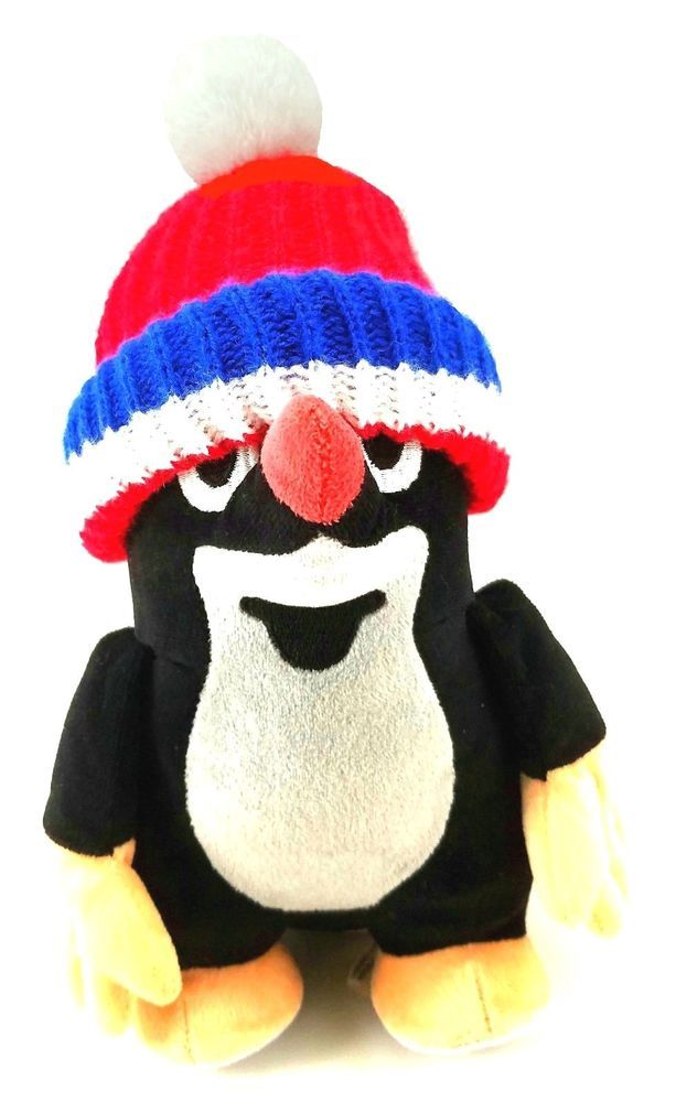 "#KRTEKTHEMOLE #KRTEK #MOLE With Blue Red #Christmas #Beanie #HAT 11"" #Tall #Czechoslovakia #PLUSH #TOY #StuffedAnimal #Animal #PLUSHTOY #eBay"