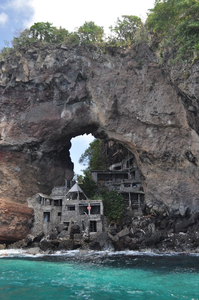 Moonhole community, Bequia, Saint Vincent and the Grenadines, Windward Islands, Caribbean. Abandoned.