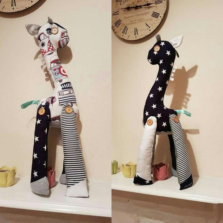 Beautiful giraffe baby teddy toys. Love making these 😍