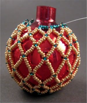 DIY Netted Beaded Ornament: This simple netted ornament design is easy to create, and can be adapted and embellished to suit just about any style or taste.