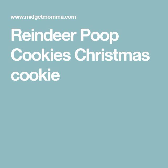 Reindeer Poop Cookies Christmas cookie
