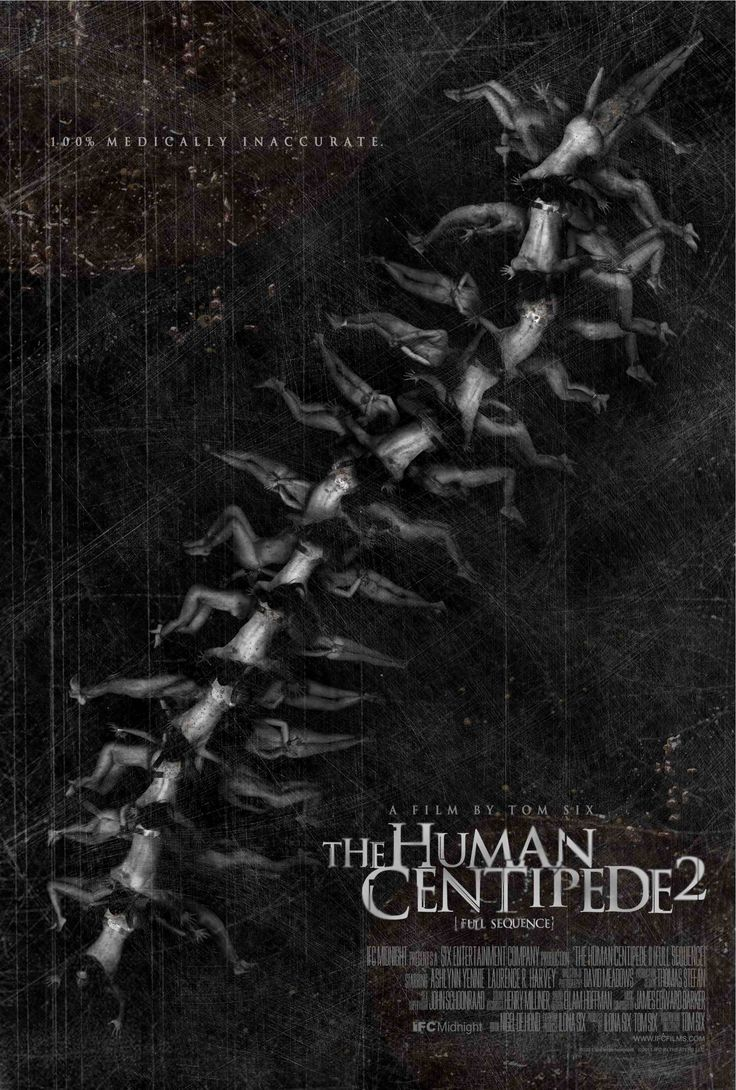 The Human Centipede 2 Centipède, Affiche film, Affiche
